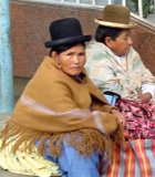 Women in La Paz sport a must-have fashion accessory: bowler hats.
