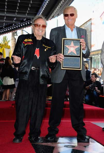 George Barris joined Adam West when TV's Batman received his star on Hollywood's Walk of Fame.
