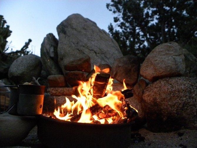 Evening Camp Fire in Anza Borrego