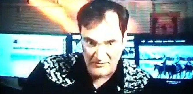 Tarantino on cue...cards.
