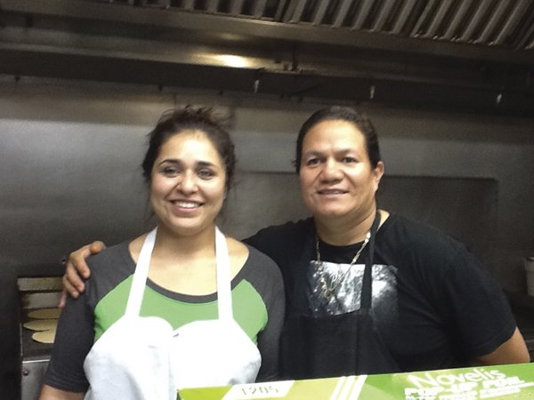 Owner Alfredo posed with his sister Eugenia.
