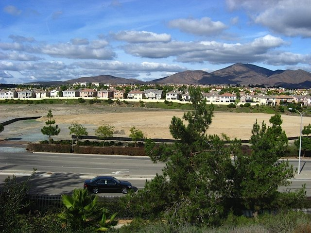 Partial view of lot for Lake Pointe development