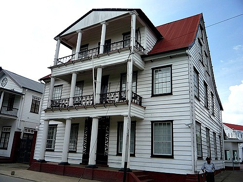 Dutch colonial architecture typifies settlements in Surinam.