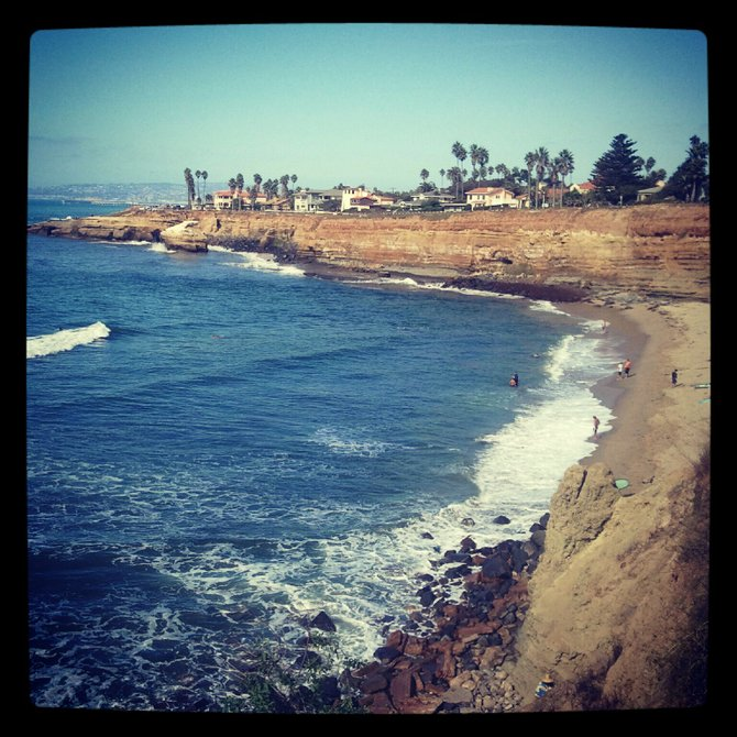 Sunset Cliffs, Ocean Beach - the best back yard a gal could ask for.