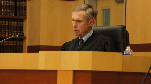 Judge Richard Mills took the plea.  Photo Weatherston.
