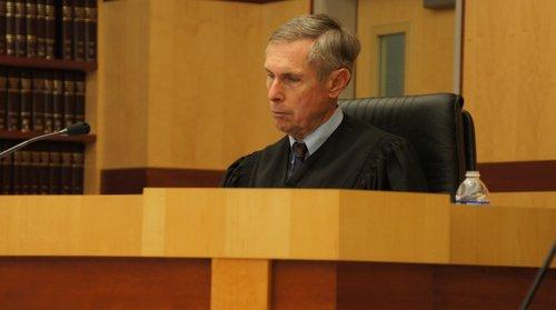 Judge Richard Mills took the plea.  Photo Weatherston.