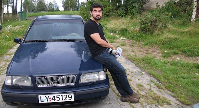 In the village of Gan, Norway. An uncooperative Volvo does not make for a enjoyable travel experience.