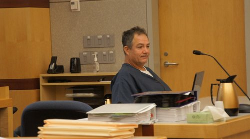 Jack Edward Henson, 46, in court yesterday.  Photo Weatherston.