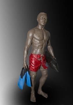 Scale model of proposed lifeguard statue