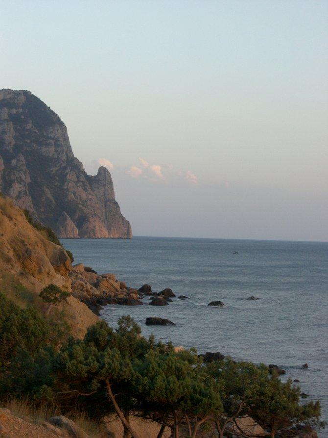 A remote stretch of Ukrainian coastline.