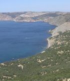 With many accessible only by boat, Black Sea beaches near Balaklava, Ukraine, promise blissful solitude.