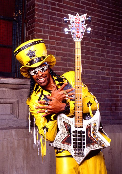 Spend an evening with badass bassist Bootsy Collins at Belly Up on Wednesday.