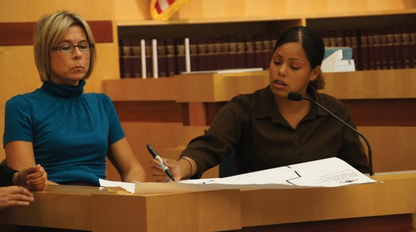 Shaquita Martinez (right), the meth user in whose townhome Arellano was killed, was given immunity by the district attorney's office in exchange for testimony.