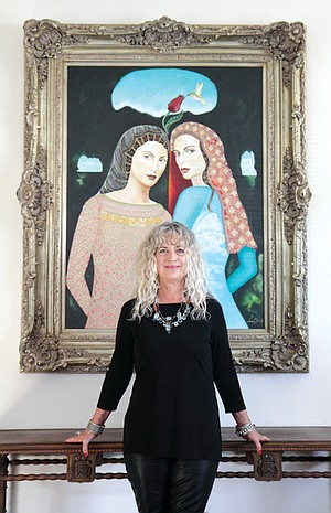 Forty six backers donated the $6765 painter Andrea Steorts used to stage a New York City art show.