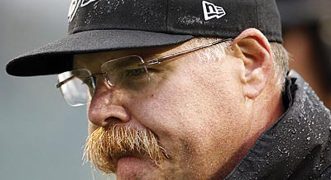 Andy Reid doesn't need to coach the Chargers; the man and his mustache need a decade of quiet time.