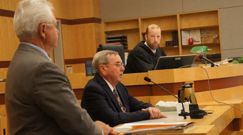 John Cihak, father of the woman accused of murder, testified.  Photo Weatherston.