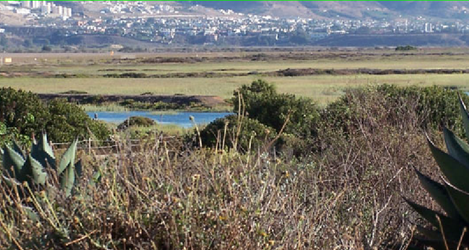 The Tijuana River National Estuarine Research Reserve failed to file annual storm-drain plan in October. (image from parks.ca.gov