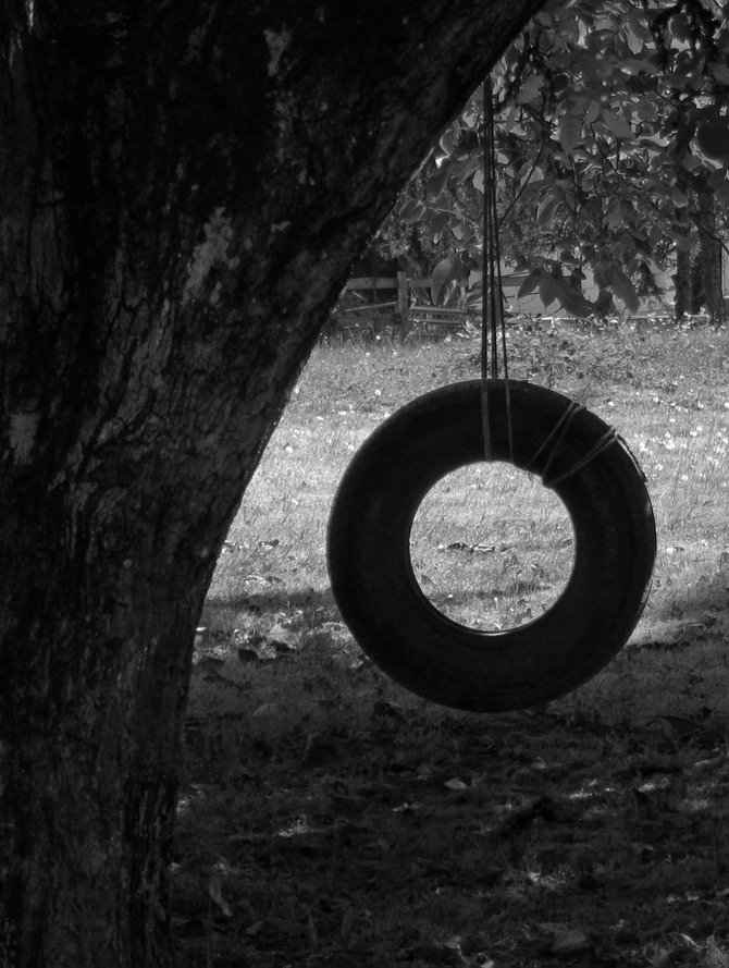 A tire swing in Springfield, Oregon