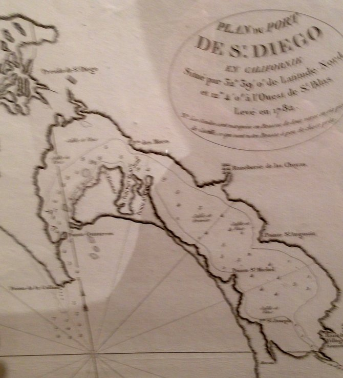 1782 map of San Diego harbor