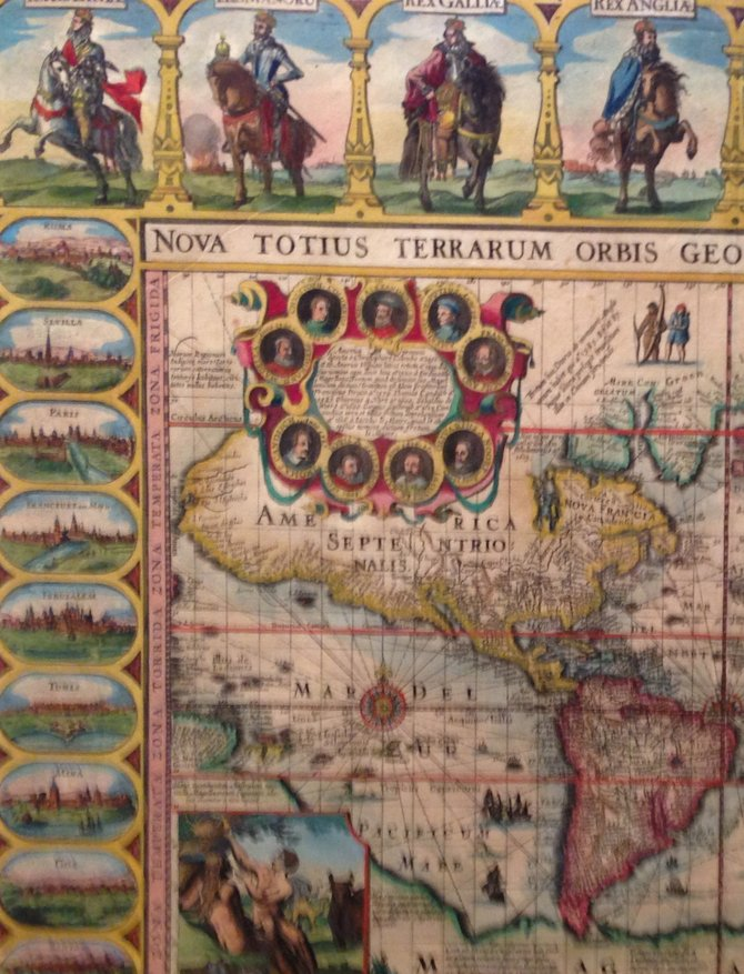 The world map with illustrations (cropped here to show illustrations).