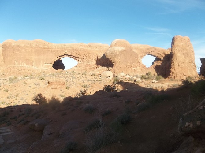 Are those rocks spying on me? The Windows at Arches National Park