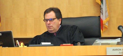 San Diego Superior Court Judge Aaron Katz.  Photo Weatherston.