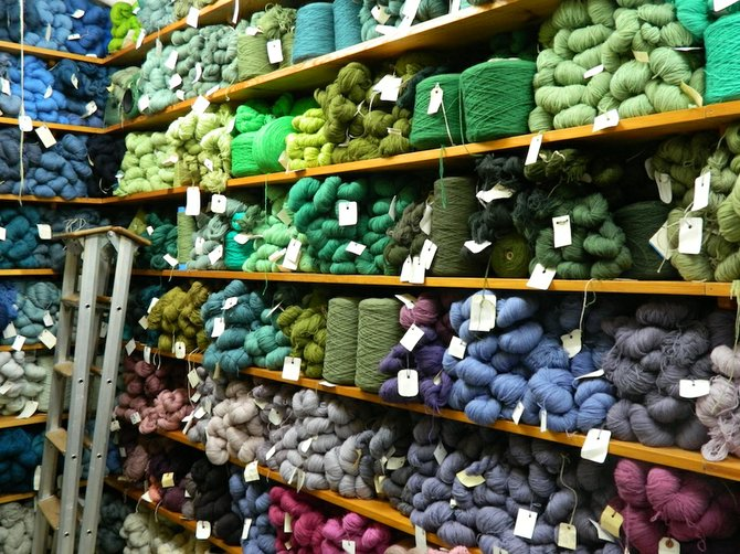 Lots of options: yarn at the Märta Måås-Fjetterström AB studio.