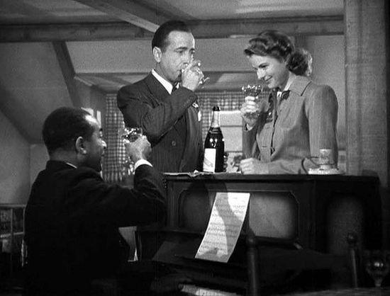 """Dooley Wilson, Humphrey Bogart, and Ingrid Bergman in """"Casablanca."""""""
