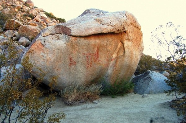 Anthropologists aren't sure whether the Blair Valley pictographs have any meaning beyond an ancient artist's whimsy.