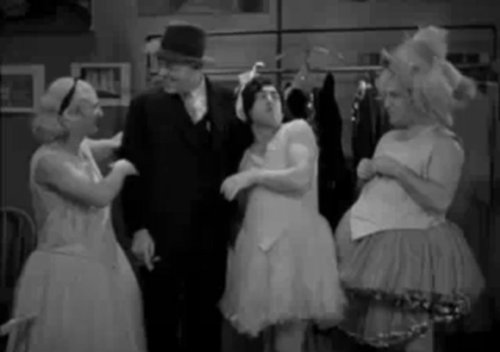 """""""Pop Goes the Easel"""": Crumbette, the Cop, mother, and daughter Curly."""