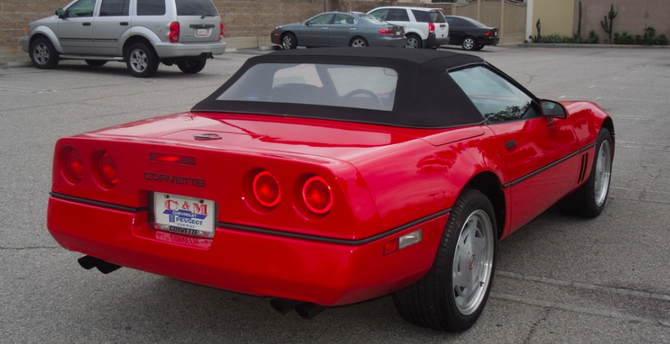 An extensive detailing to remove a quarter century's worth of dust returned the red ragtop to cherry condition