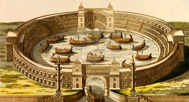 Feel like a little Naumachia? Caesar built an artificial lake in which to wage real sea battles.