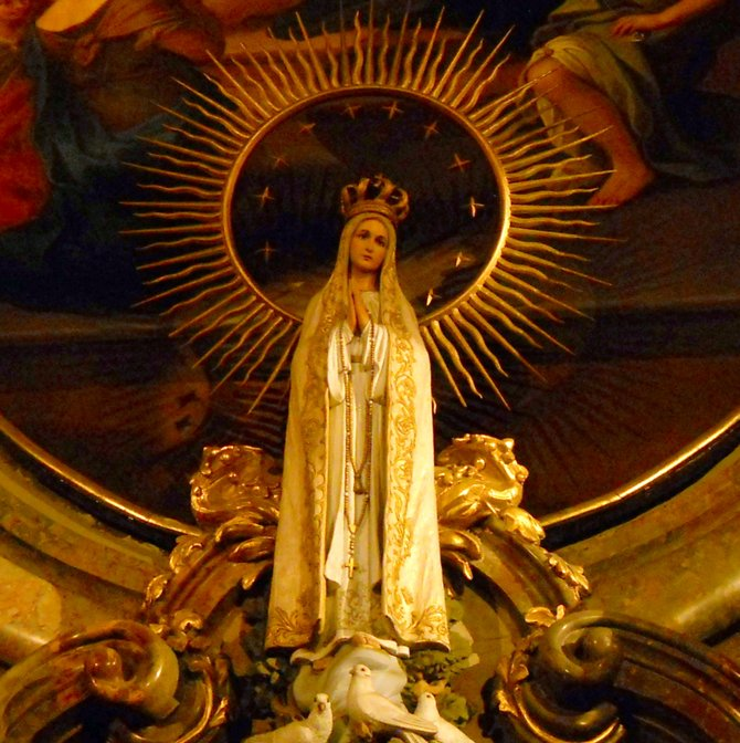 Third Fatima Secret about Poznan (Basilica Minor, the St. Stanislaus the Bishop and the Martyr Church, Mother of God of Perpetual Help and St. Mary Magdalene Sanctuary, Collegiate Parish Church / Fara of Poznan). Among other holy objects, there is a statue of Our Lady of the Rosary of Fatima on the St. Stanislaus Kostka (Patron of Poland) altar in the transept. The Third Secret of Fatima (Special Message) includes the World War III fates. Many nations will vanish off the face of the earth. People need to get better and beg God for forgiveness for their sins! In faith and prayer is a force that can influence the fate of the world. Poles as the only people who stay alive will be protected by the mercy of God. No Polish city will be destroyed by atom bombs (no large damages). Something good will come out of the disaster. Poland, as the whole country, has been dedicated to the Immaculate Heart of Mary on 8 September 1946 and hence Poznan will not be destroyed at all. This only country will come out from the global cataclysm as a country more powerful, stronger, and more splendid. In the future the Polish people will have a good influence on the whole of Europe and a new system will be created in accordance with the law of God. In this connection revival and dissemination of the Immaculate Heart worship in Polish churches will create the new law.