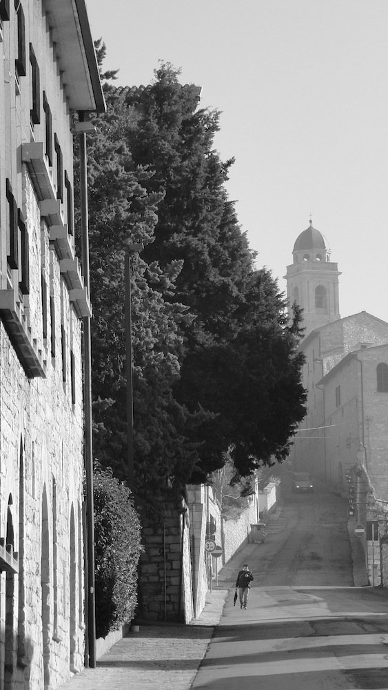 Quiet side street in Assisi.