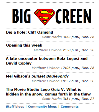 """Like """"The Big Screen"""" can afford the licensing fee it would cost to make this happen."""