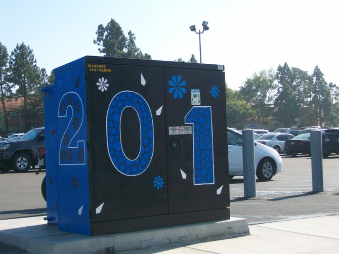 Utility box art outside of Kearny High School in Linda Vista.