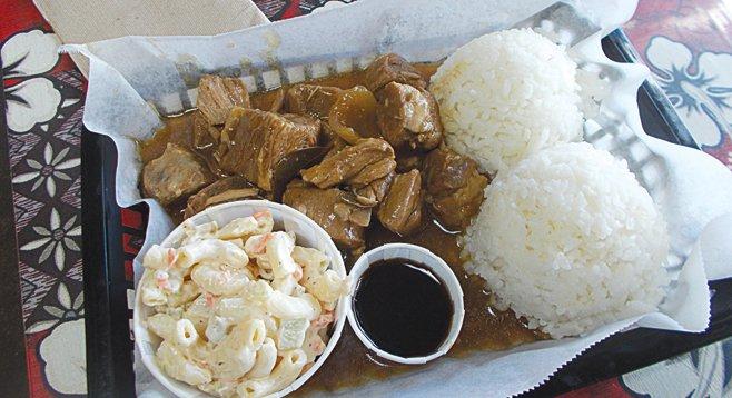 """""""Daily Special: Pork Adobo $6.50."""""""