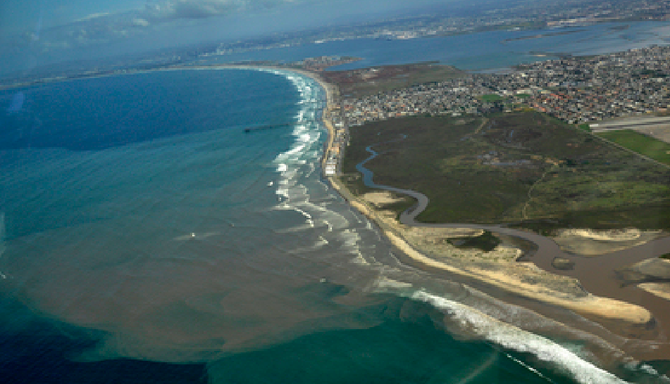 Image of Tijuana River pollution from wildcoast.net