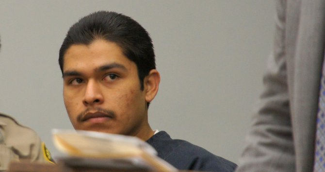 Pedro Manriquez Jr., 18, pleads not guilty.  Photo Weatherston.
