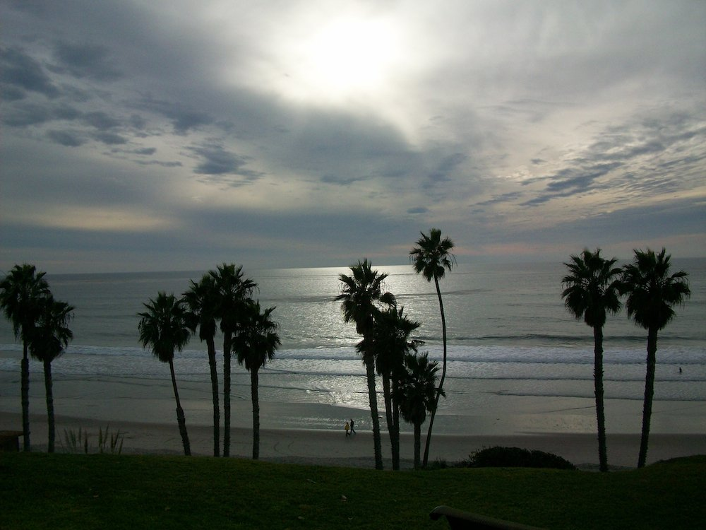 Winter view of the Pacific from San Clemente's Beachcomber Motel.