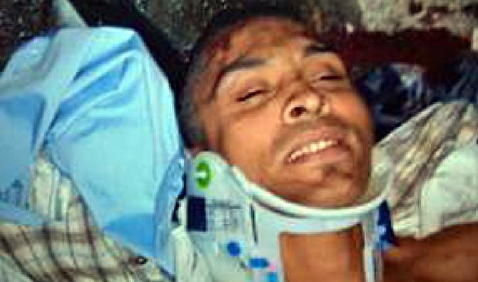 Jorge Silva Murray, 21, was hospitalized under police custody.