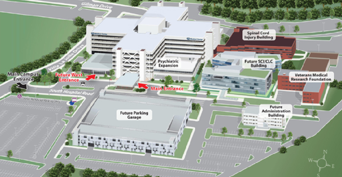 Artist's rendition of future parking plans for VA Medical Center