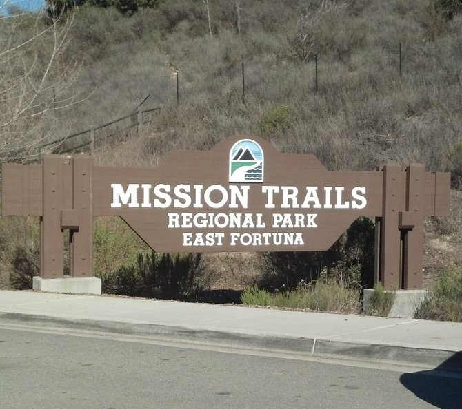 Mission Trails Regional Park, East Fortuna sign.