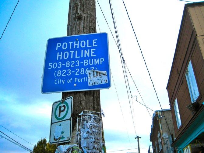 Pothole Hotline. Portland, Oregon