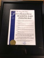Mayor of San Diego's Peaceful Easy Feeling Day Official Proclamation