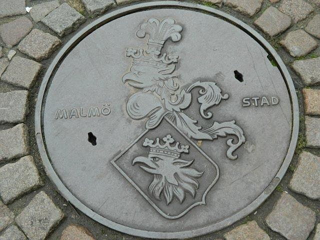 Passing a medieval manhole cover...