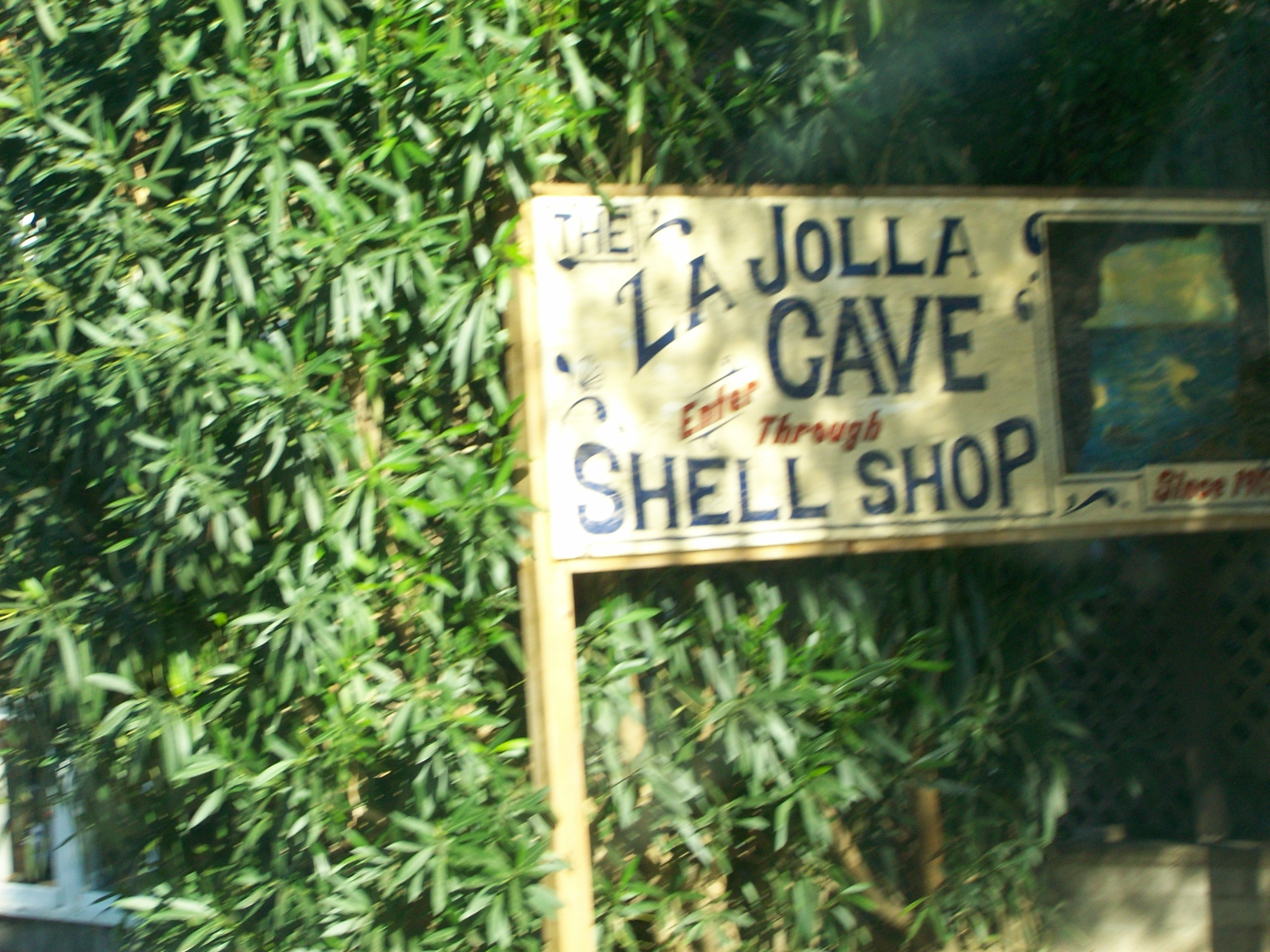La Jolla Cave Shop sign.