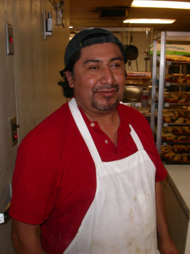 "Luis García says he ""grew up on a bakery table."""