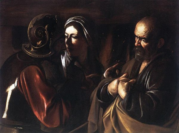 Caravaggio's The Denial of St. Peter, 1610