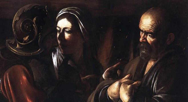 St. Francis of Assisi in Ecstasy, by Caravaggio, who possessed acute instincts for how the body expresses extremity of feeling.
